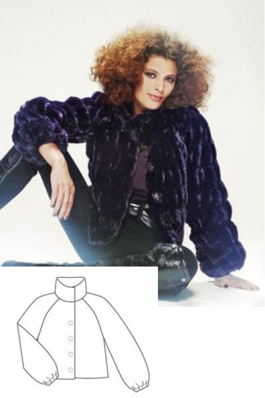 Fur Jacket Sewing Pattern For Women (Sizes 36-44 Eur)
