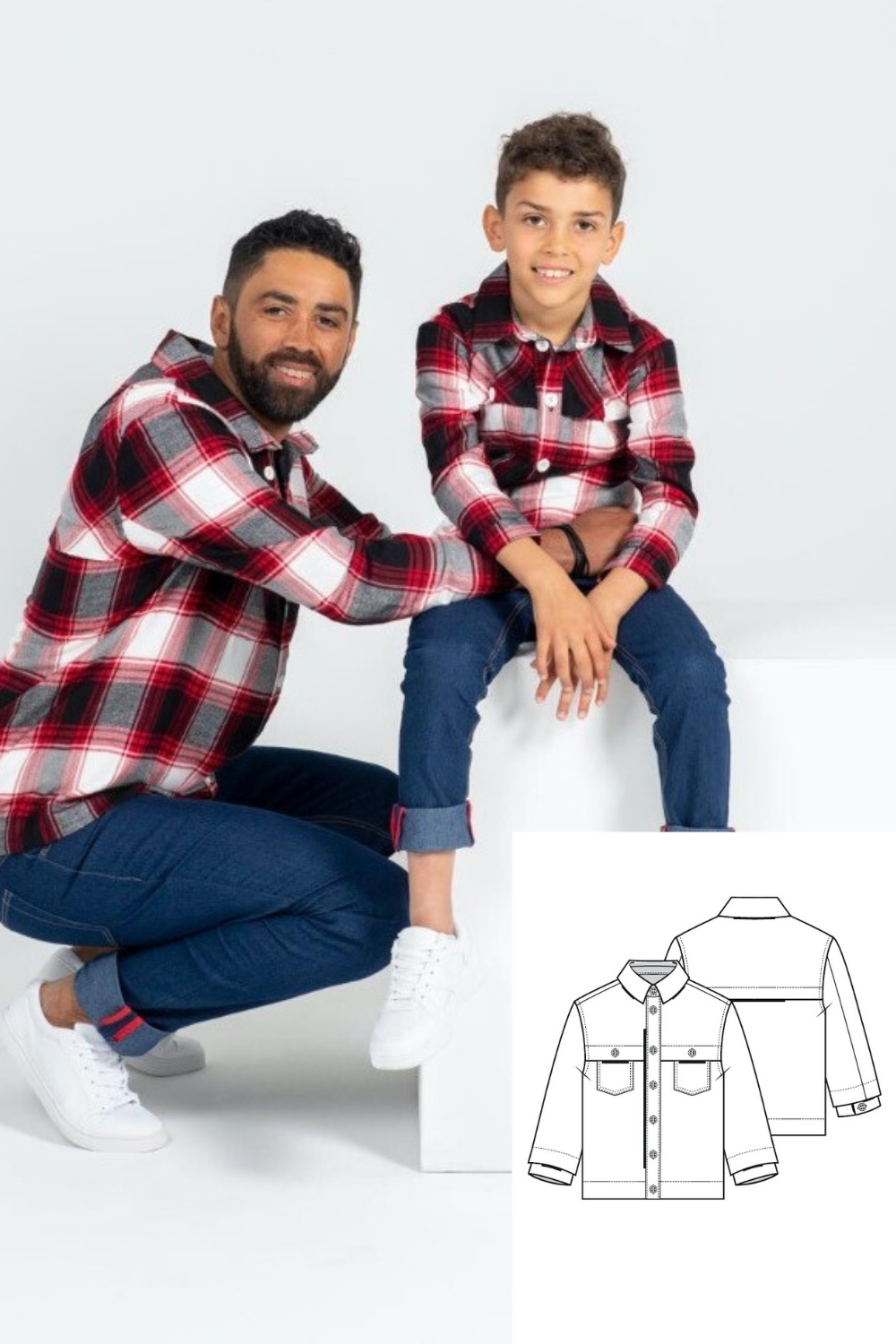 Boy's Jacket Shirt Sewing Pattern (Sizes 104-134 Eur)