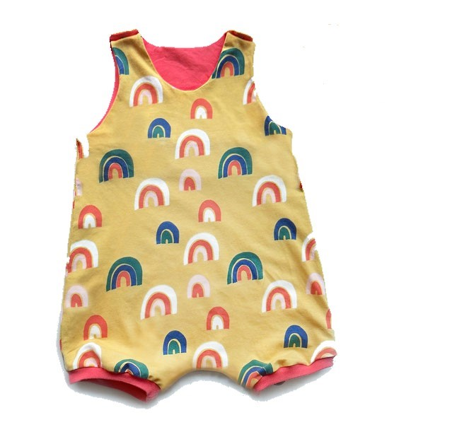 Summery Romper Sewing Pattern For Babies (Sizes 1M-6M)