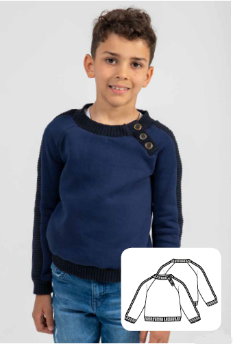 Jumper Sewing Pattern For Boys (Sizes 104-134 Eur)