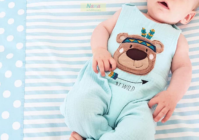 Sleeveless Romper Sewing Pattern For Babies (Sizes 0-3M)