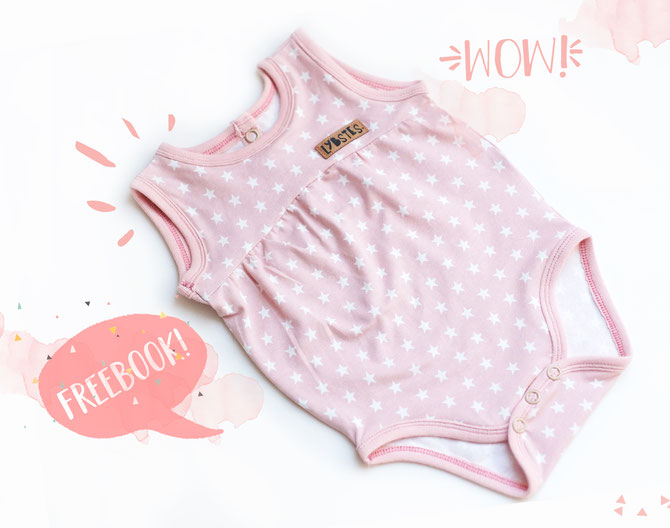 Bodysuit Sewing Pattern For Babies (Sizes 3M-6M)