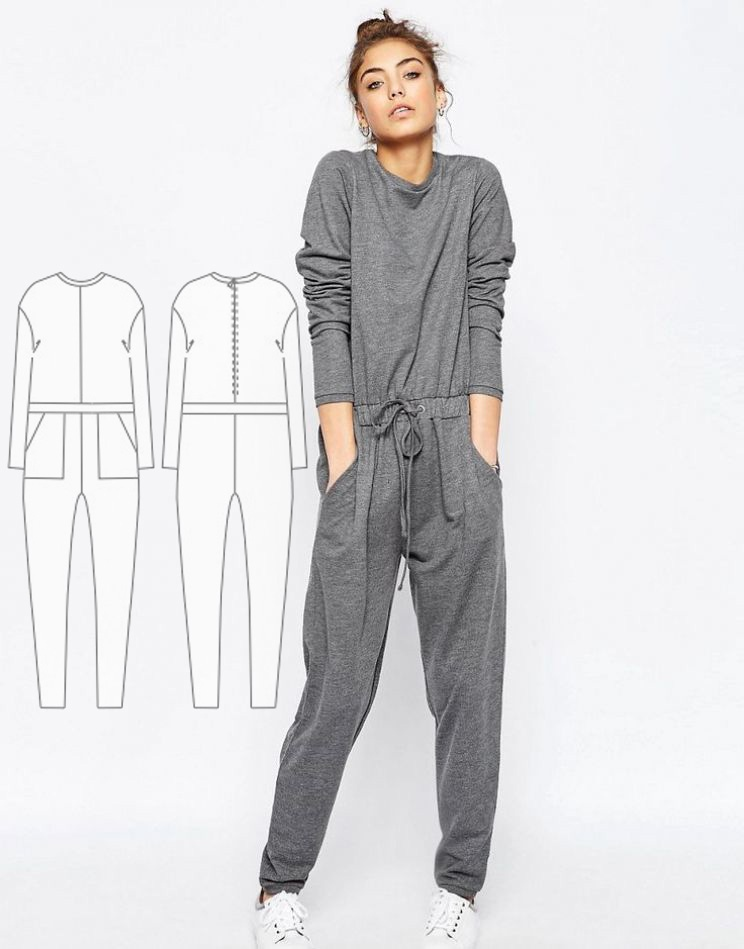Knitted Jumpsuit Sewing Pattern For Women (Sizes 34-46 Eur)