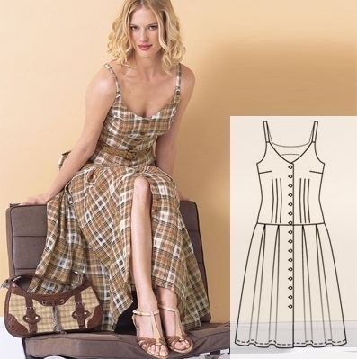 Sundress Sewing Pattern For Women (Sizes 34-44 Eur)