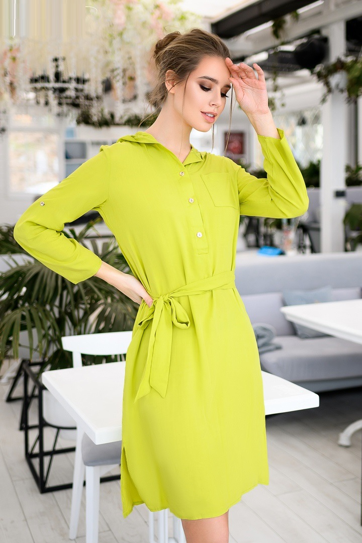 Shirt Dress With Hoodie Sewing Pattern For Women (Sizes 38-50 Eur)