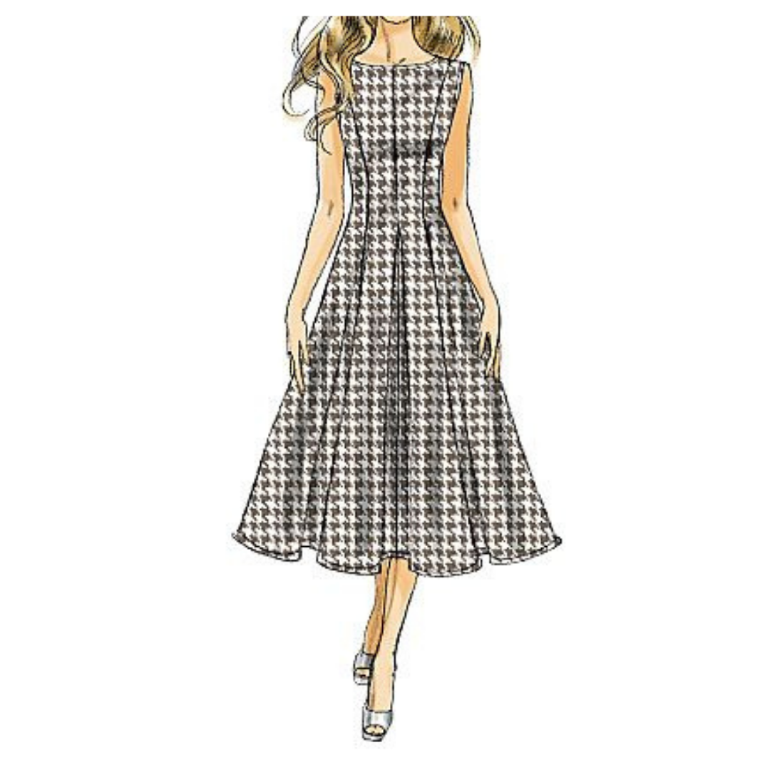 A-Line Summer Dress Sewing Pattern For Women (Sizes 34-48 Eur)