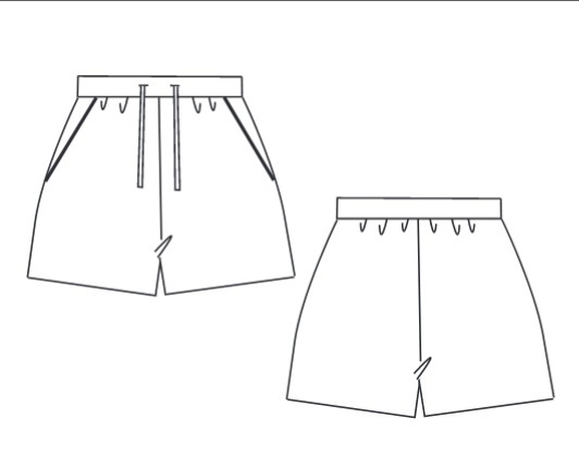 Women's Knitted Shorts Sewing Pattern (Sizes 34-46 Eur)