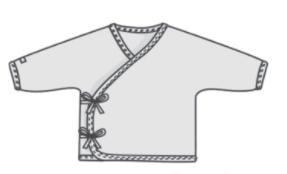 Baby Kimono T-Shirt Sewing Pattern (0M-12M)