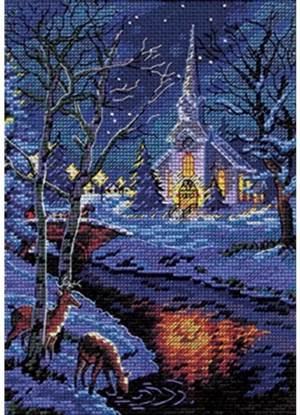 Splendor At Night - Cross Stitch Embroidery Scheme