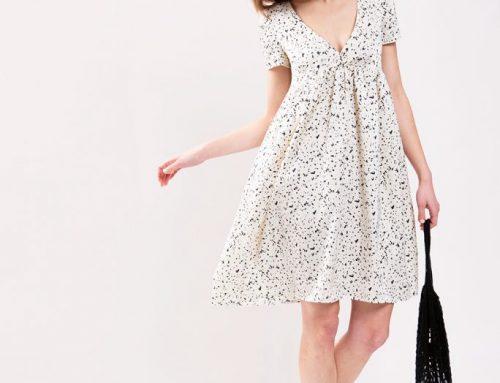 Deep V-Neckline Dress Sewing Pattern (Sizes 34-44 Eur)