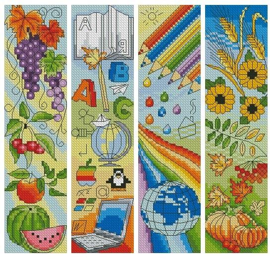 Bookmarks - Cross Stitch Embroidery Scheme