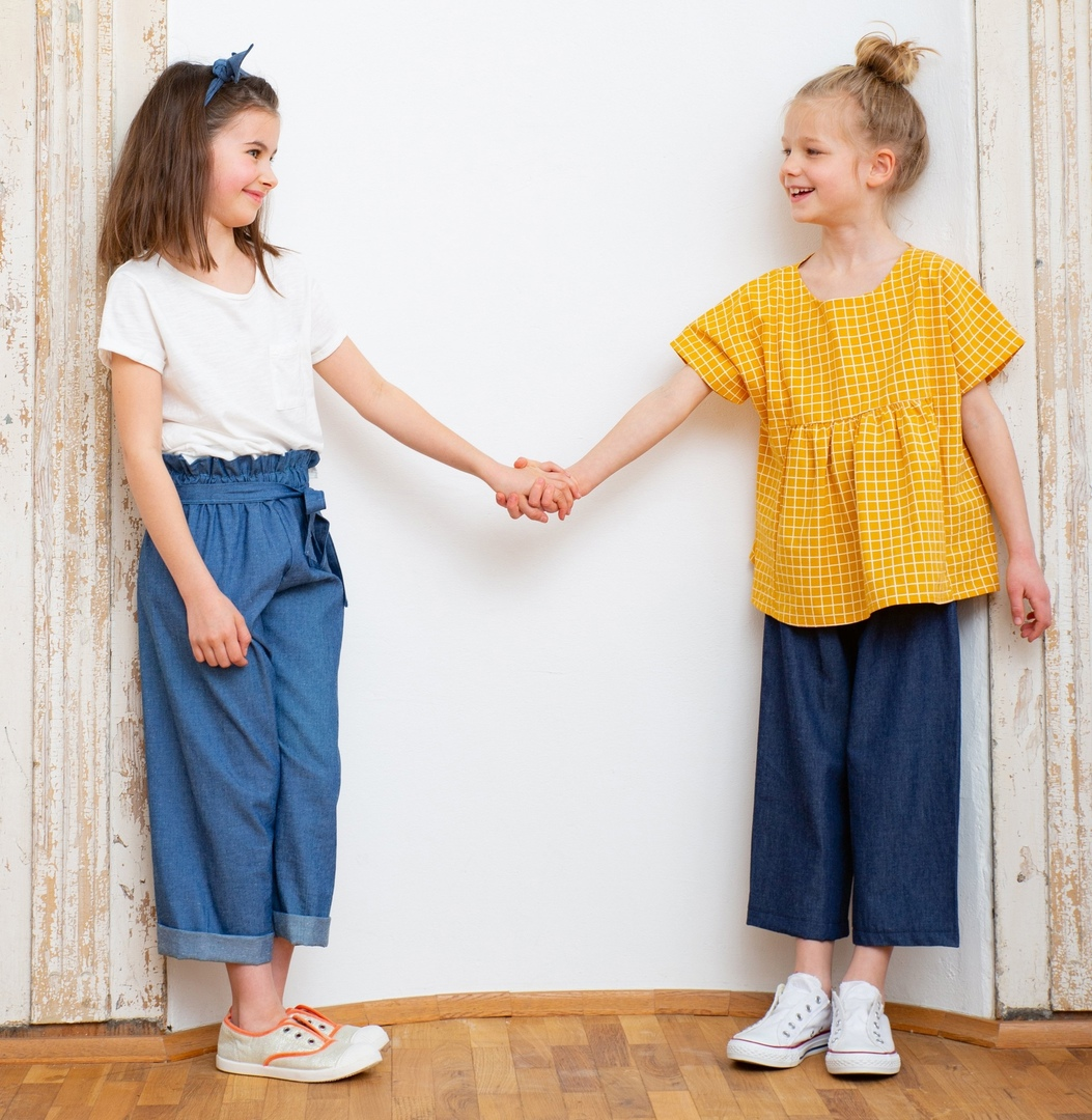 Culottes Sewing Pattern For Girls (Sizes 98-140)