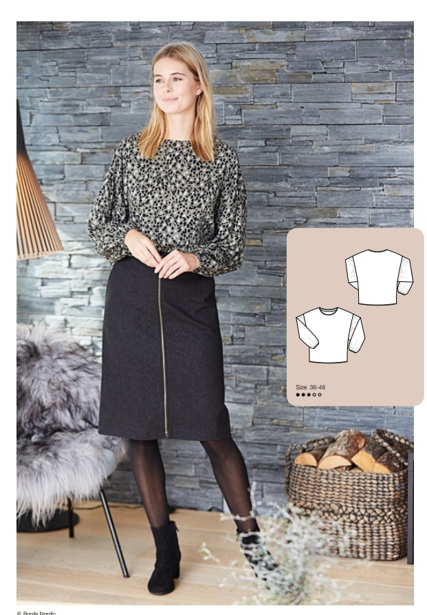 Blouse Sewing Pattern For Women (Sizes 36-46 Eur)