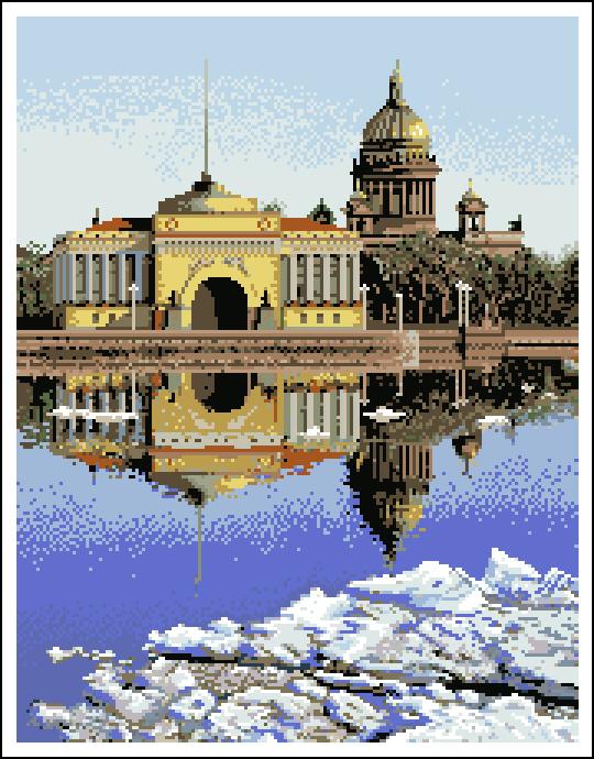 Riolis Petersburg - Cross Stitch Embroidery Scheme