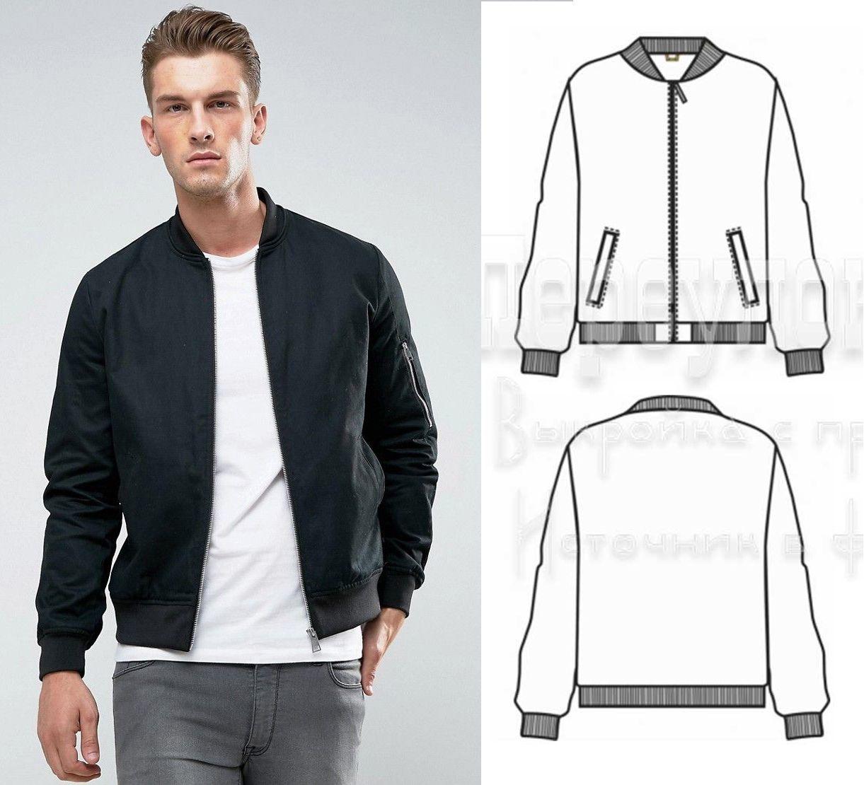 Bomber Jacket Sewing Pattern For Men (Sizes 44-52 Eur)