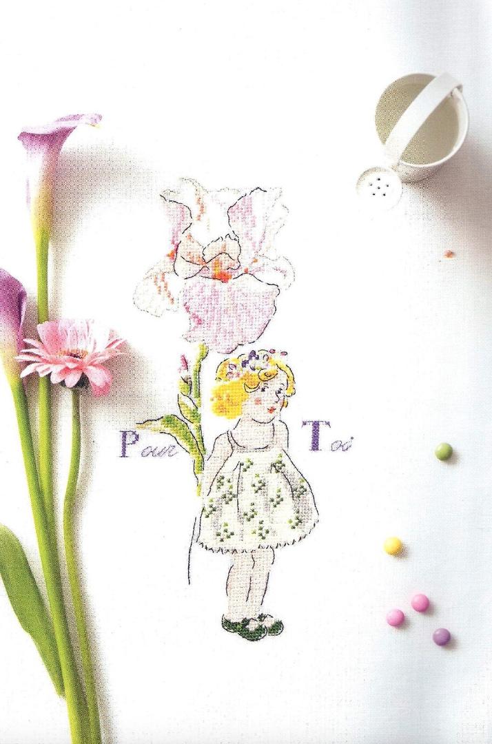 'Pour Toi' Cross Stitch Embroidery Scheme