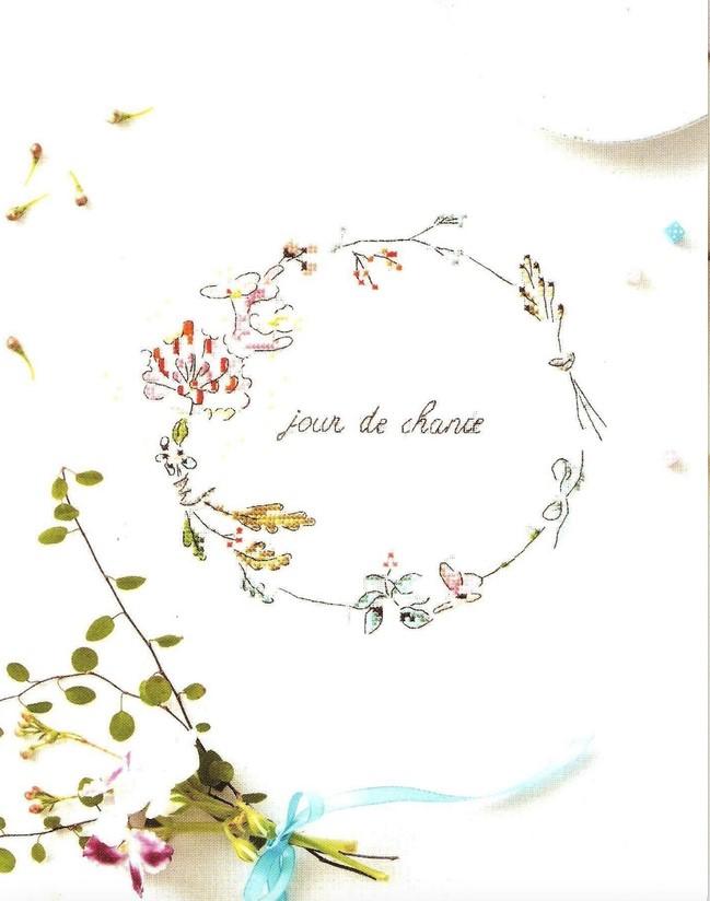 'Jour De Chance' Cross Stitch Embroidery Scheme