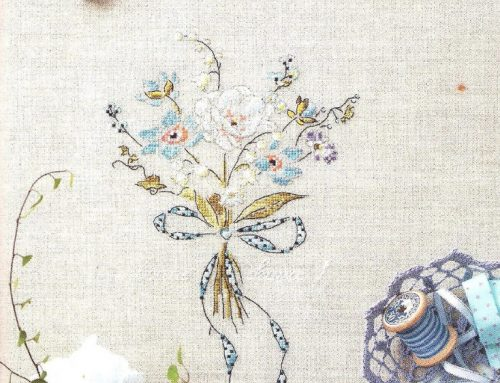 Bouquet Cross Stitch Embroidery Scheme