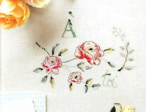 'À Toi' Cross Stitch Embroidery Scheme