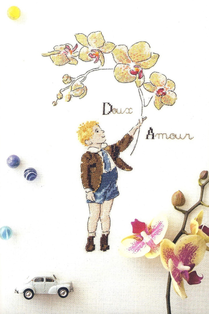 'Doux Amour' Cross Stitch Embroidery Scheme