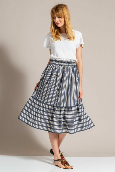 Linen Skirt With Frill Sewing Pattern For Women (34-46 Eur)