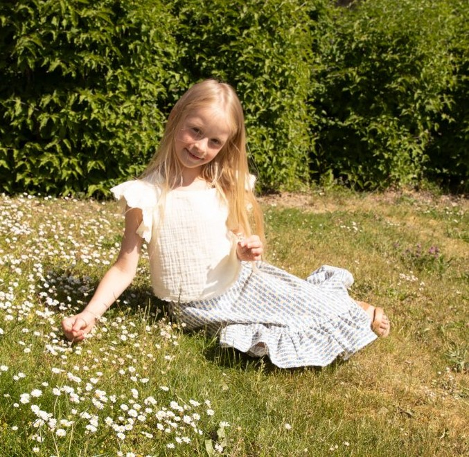 Summer Top Sewing Pattern For Girls (Sizes 110-152)