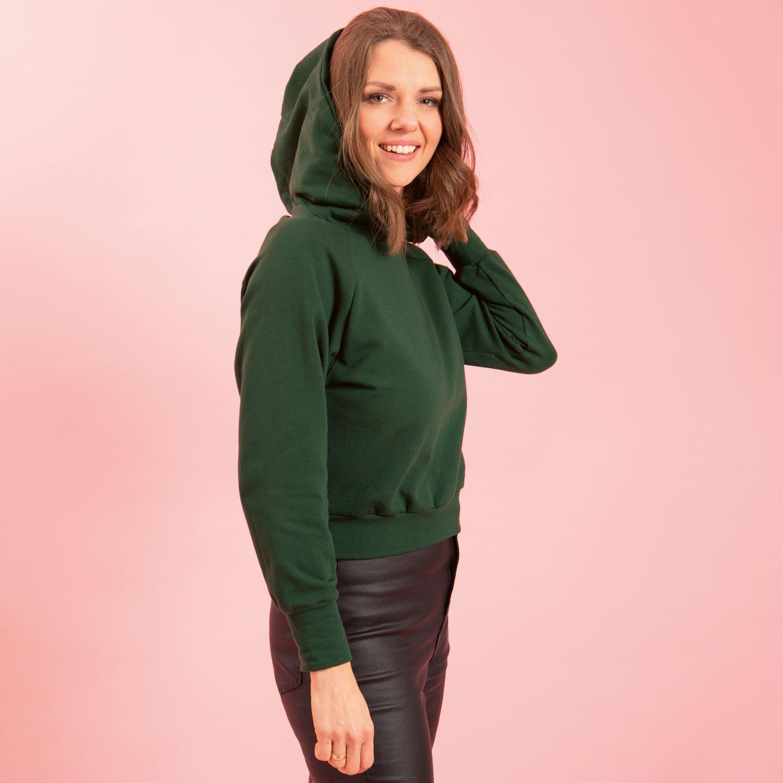 Crop Hoodie Sewing Pattern For Women (Sizes 34-44 Eur)