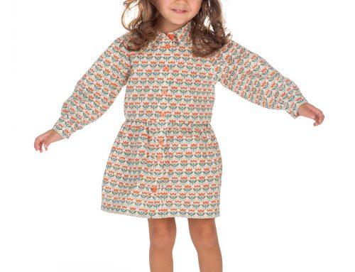 Cotton Shirt Dress Sewing Pattern For Girls (Sizes 98-134)