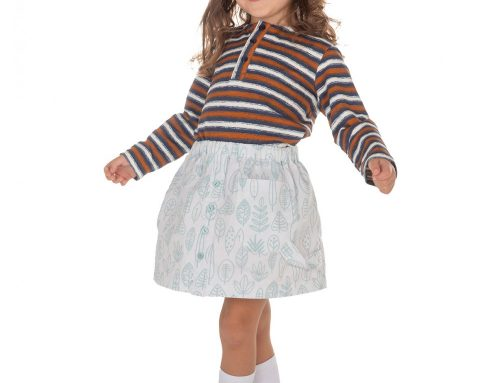 Knit Skirt Sewing Patter For Girls (Sizes 98-134)