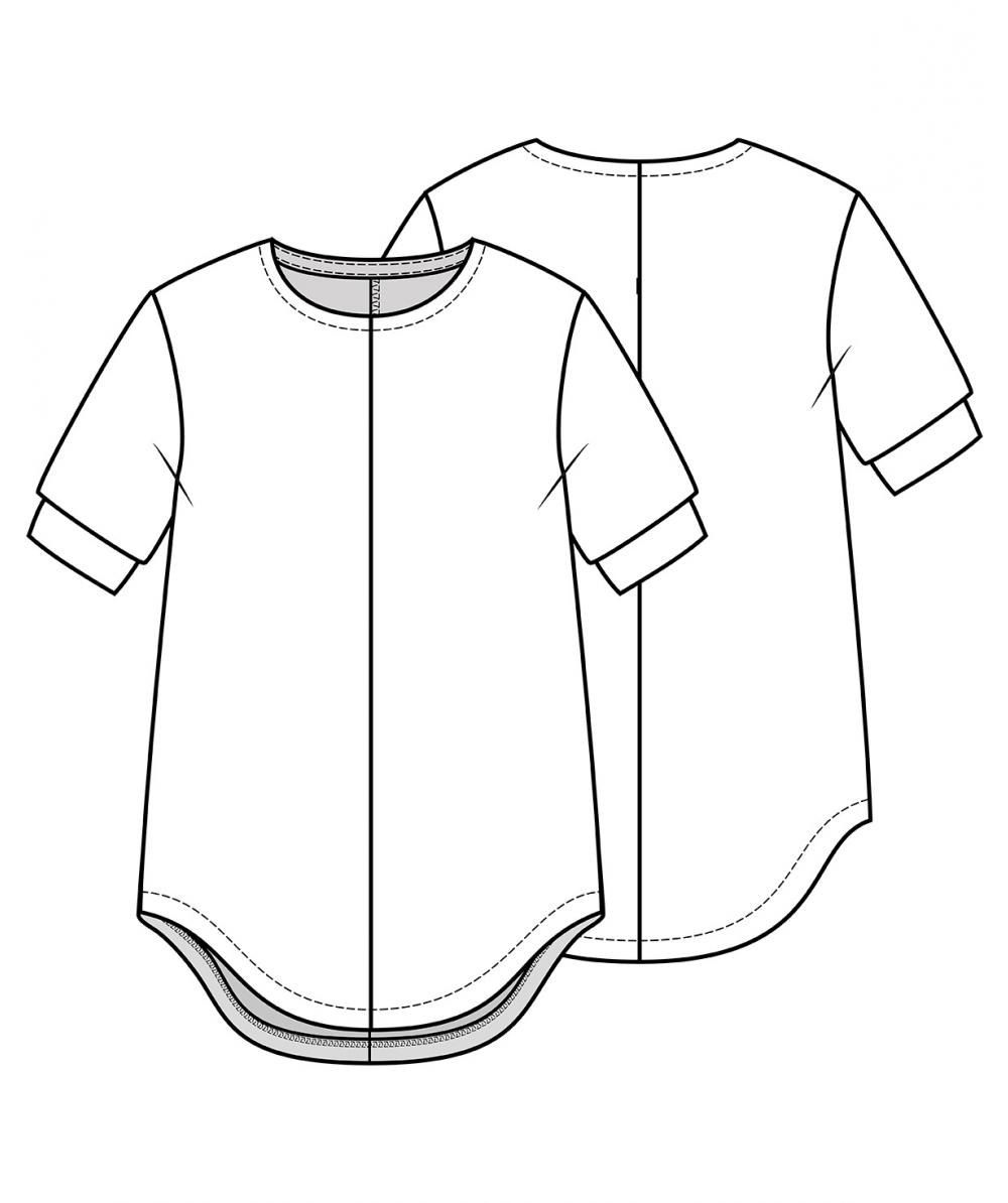 Knit Tunic Dress Sewing Pattern For Girls (Sizes 98-134)