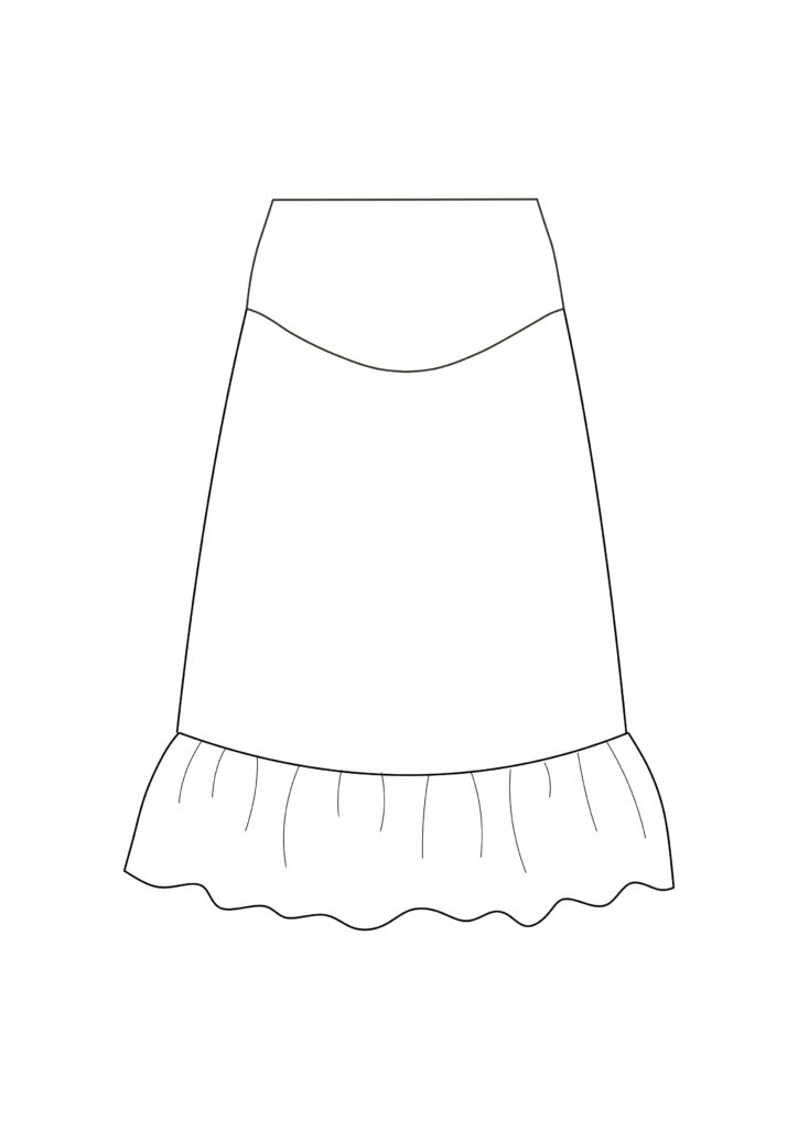 Maternity Skirt Sewing Pattern (Sizes 34-44 Eur)