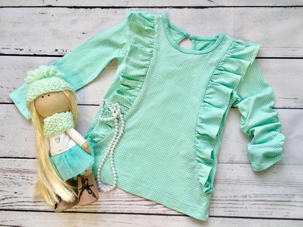 Long Sleeve Ruffle T-Shirt Sewing Pattern For Girls (Sizes 86-122)