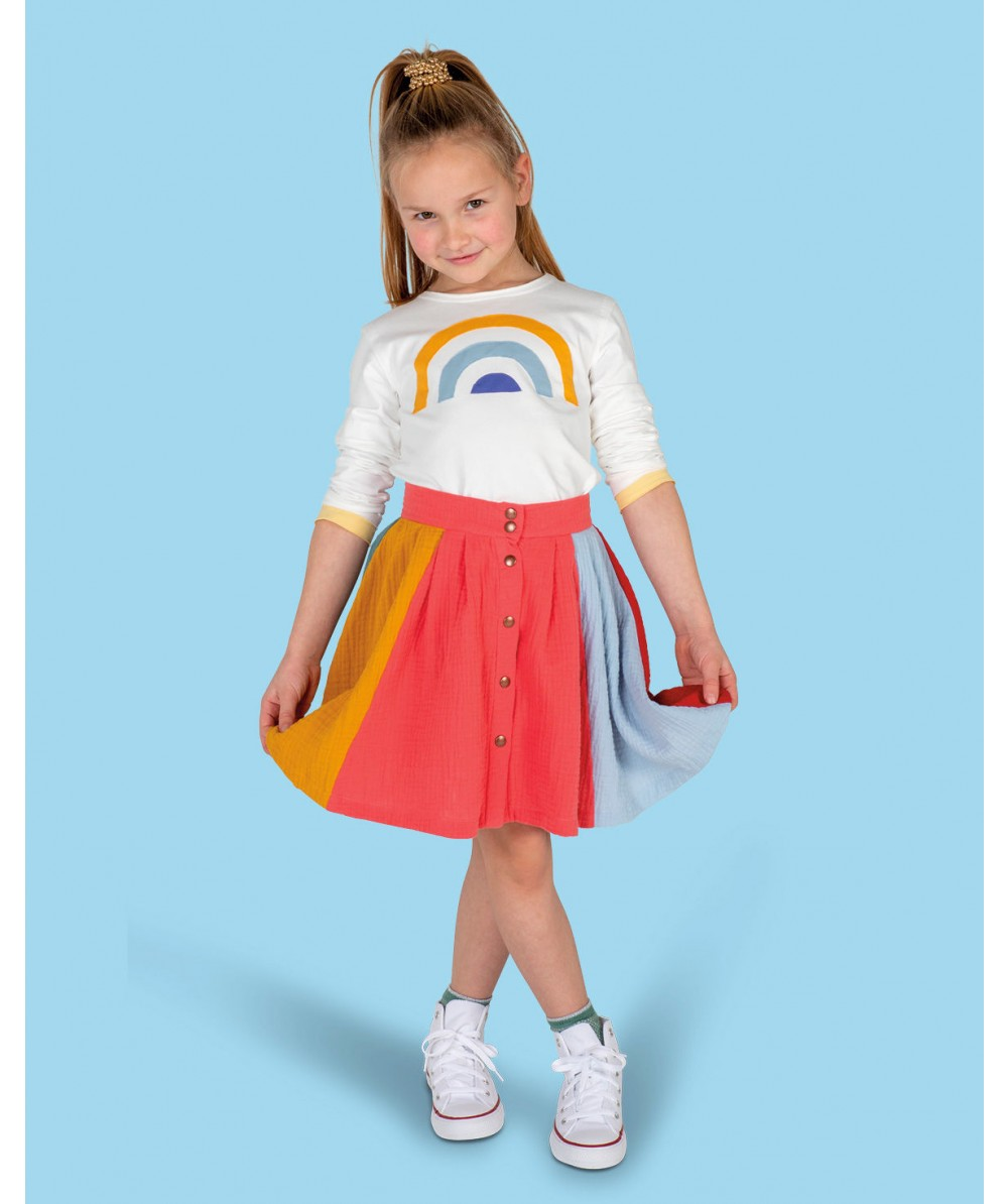 Cotton Skirt Sewing Pattern For Girls (Sizes 80-104)