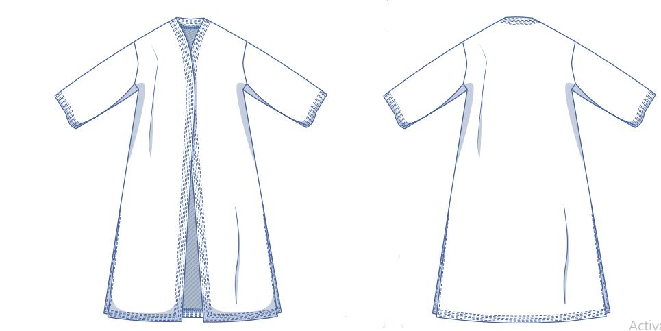 Julia Long Jacket Sewing Pattern For Women (Sizes XS - XXXL)