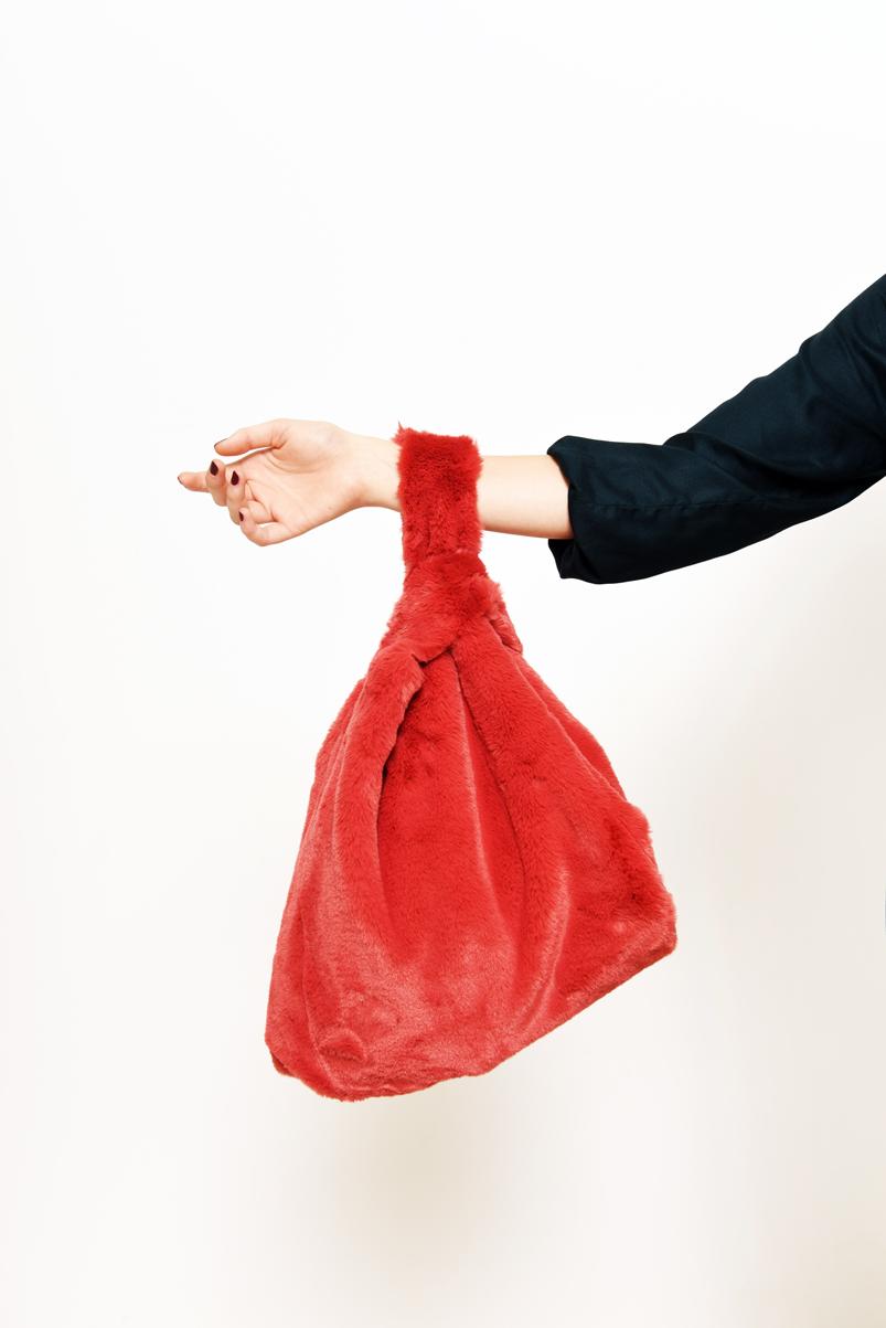 Faux Fur Knot Bag