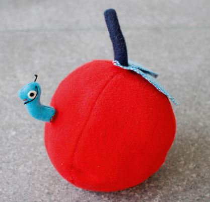 Baby Ball Worms In Apple Sewing Pattern
