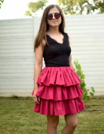 Tiered Ruffle Skirt For Any Size