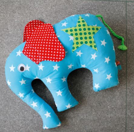 Cuddly Elephant Sewing Pattern For Children