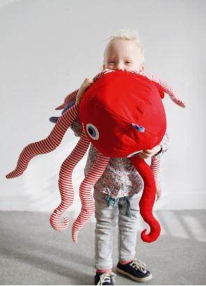 Octopus Paul Playmate Sewing Pattern For Children
