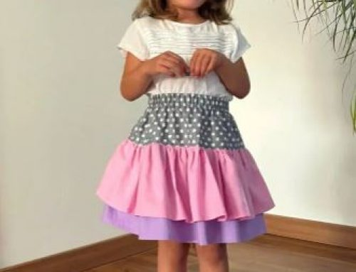 Ruffle Skirt For Girls Sewing Tutorial