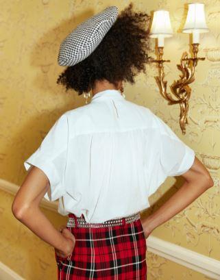 White Agathe Blouse/Shirt Sewing Pattern For Women (Sizes 36-44 Eur)
