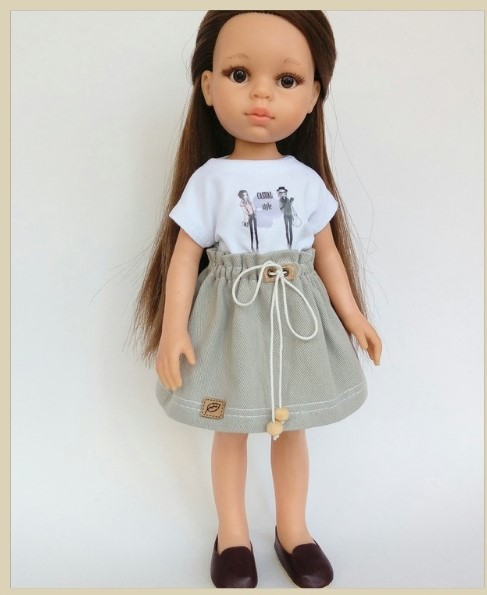 Extended Sleeve T-shirt For Doll